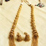 Antique Big Ball Jhumki Long Necklace