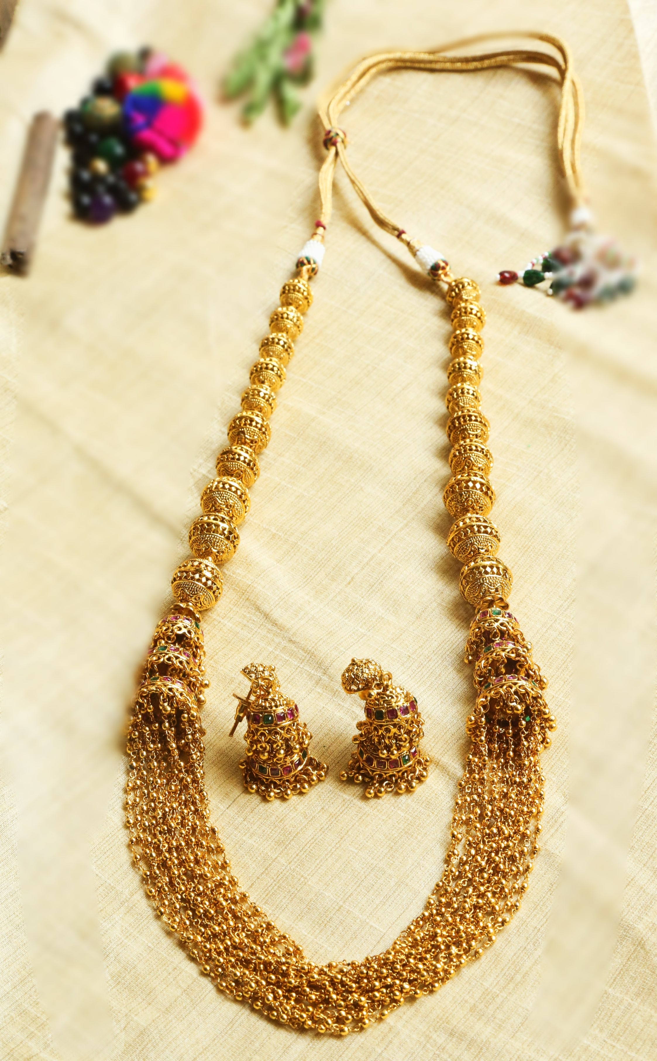 Antique-Big-Ball-Jhumki-Long-Necklace-01