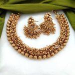 Imitation Antique Gold Bead Necklace