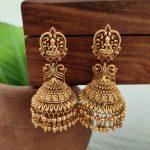 Imitation Gold Drops Lakshmi Jhumkas