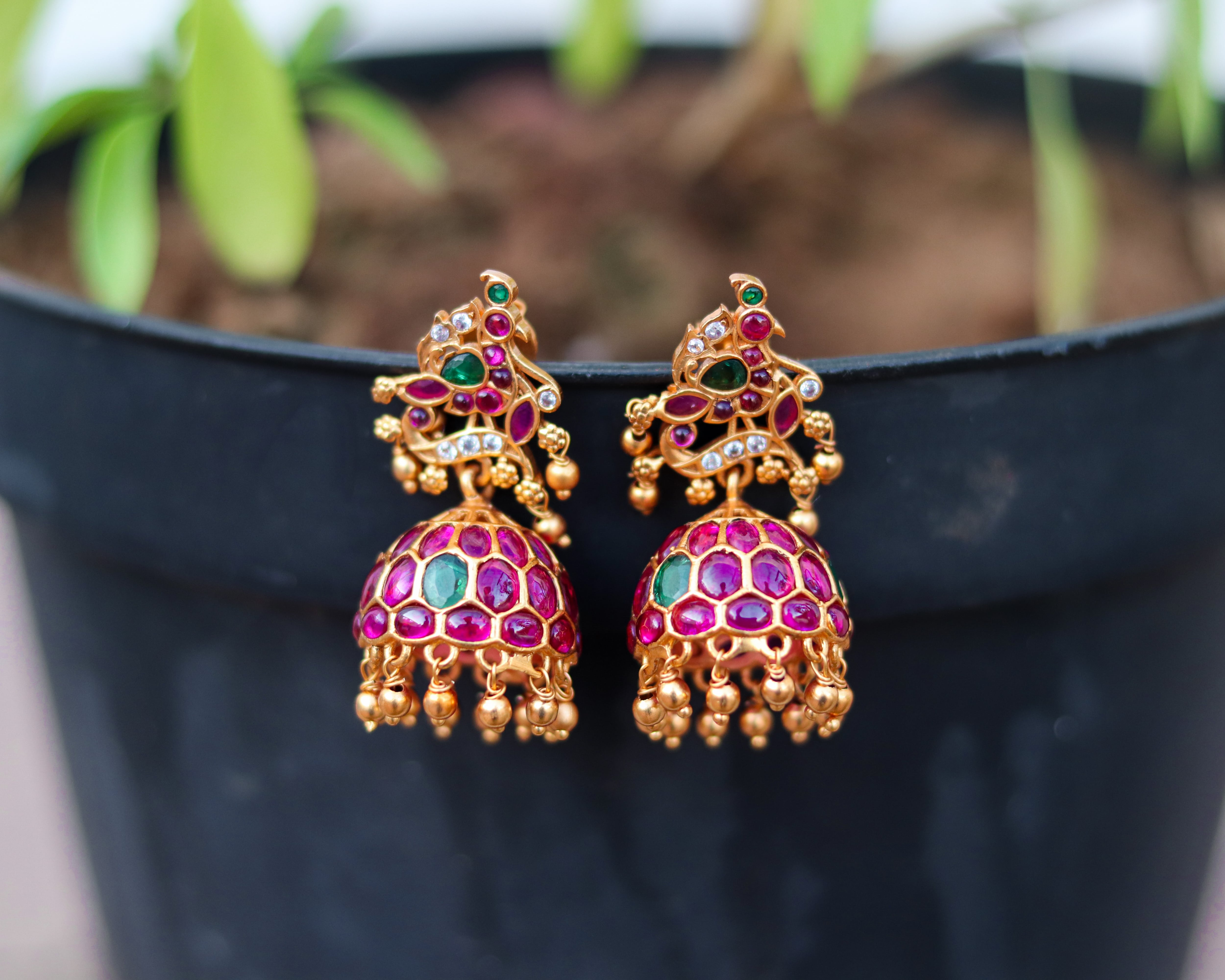 Imitation-Ruby-Emerald-Jhumka-01