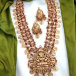 Lakshmi Pendent with Ruby AD Stone Layer Coin Haram