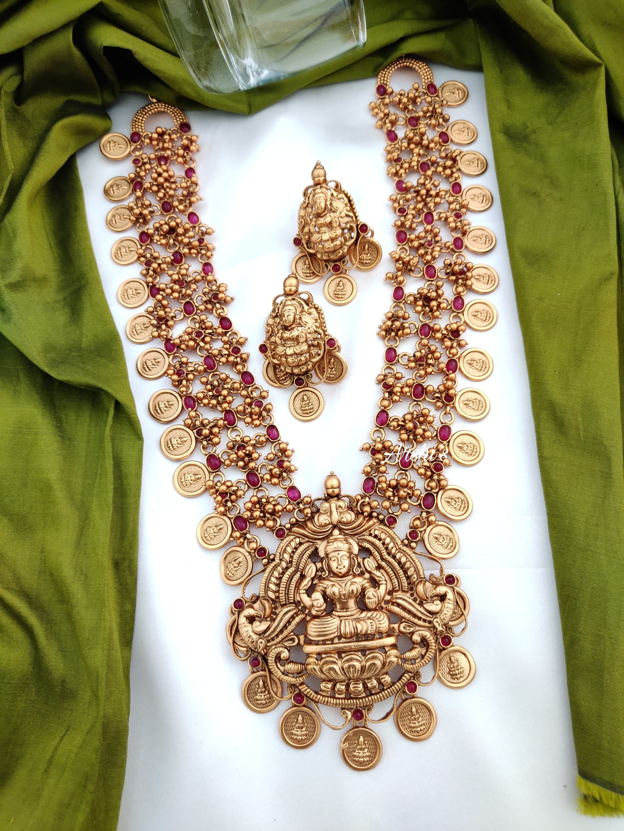 Lakshmi-Pendent-with-Ruby-AD-Stone-Layer-Coin-Haram-01