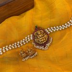 Latest Antique Pearl Lakshmi Choker