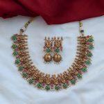 One Gram Gold Temple Necklace Set