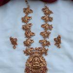 Temple Peacock Necklace Set
