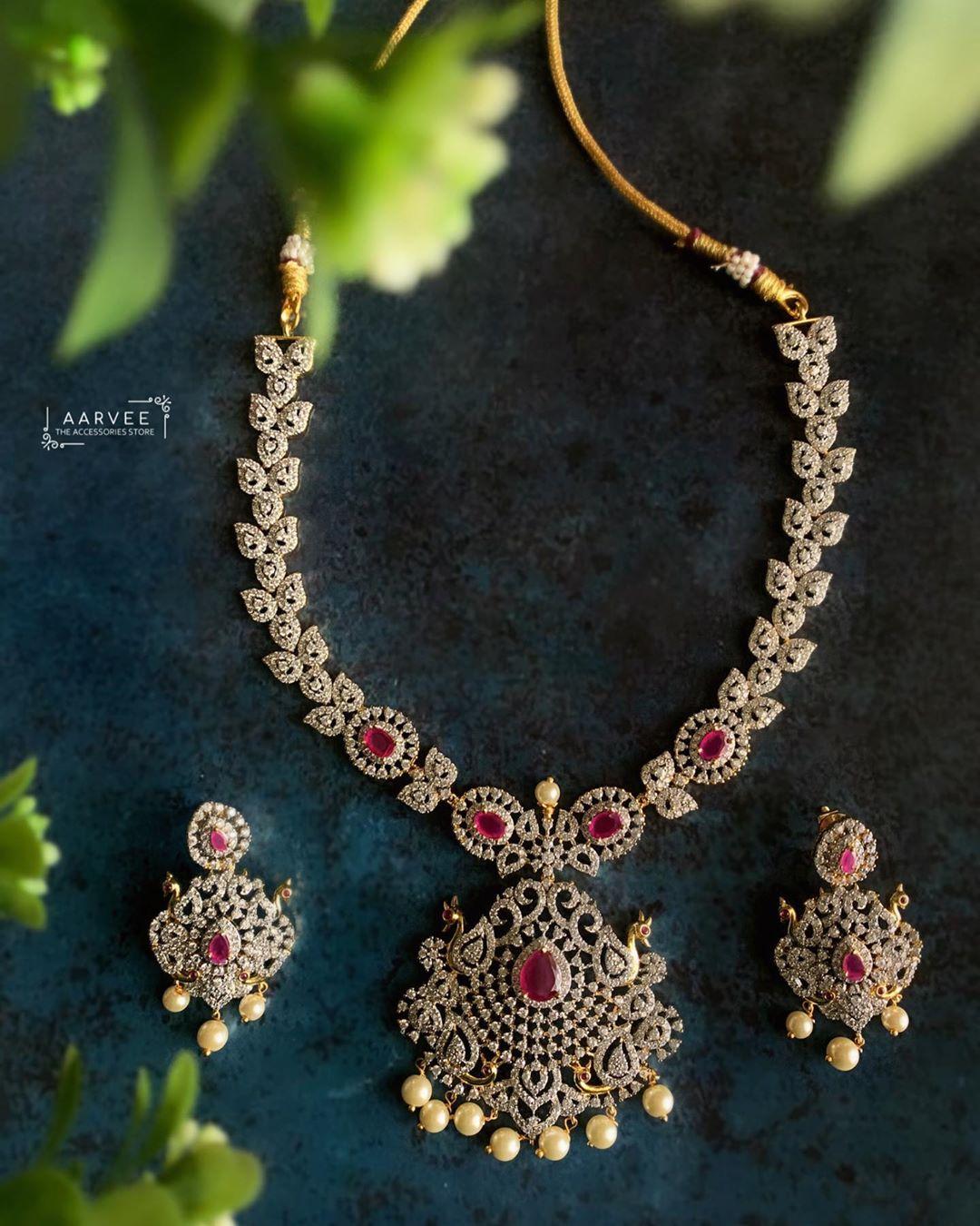 american-diamond-necklace set