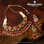 Designer Kundan and Pearls Necklace Set