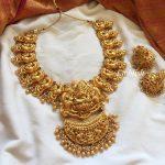 Gold Like Lakshmi Double Pendant Choker