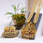 Gold Plated Ganesh Pendant Temple Set