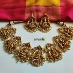 Gold Plated Laxmi Choker Temple Jewellery Set