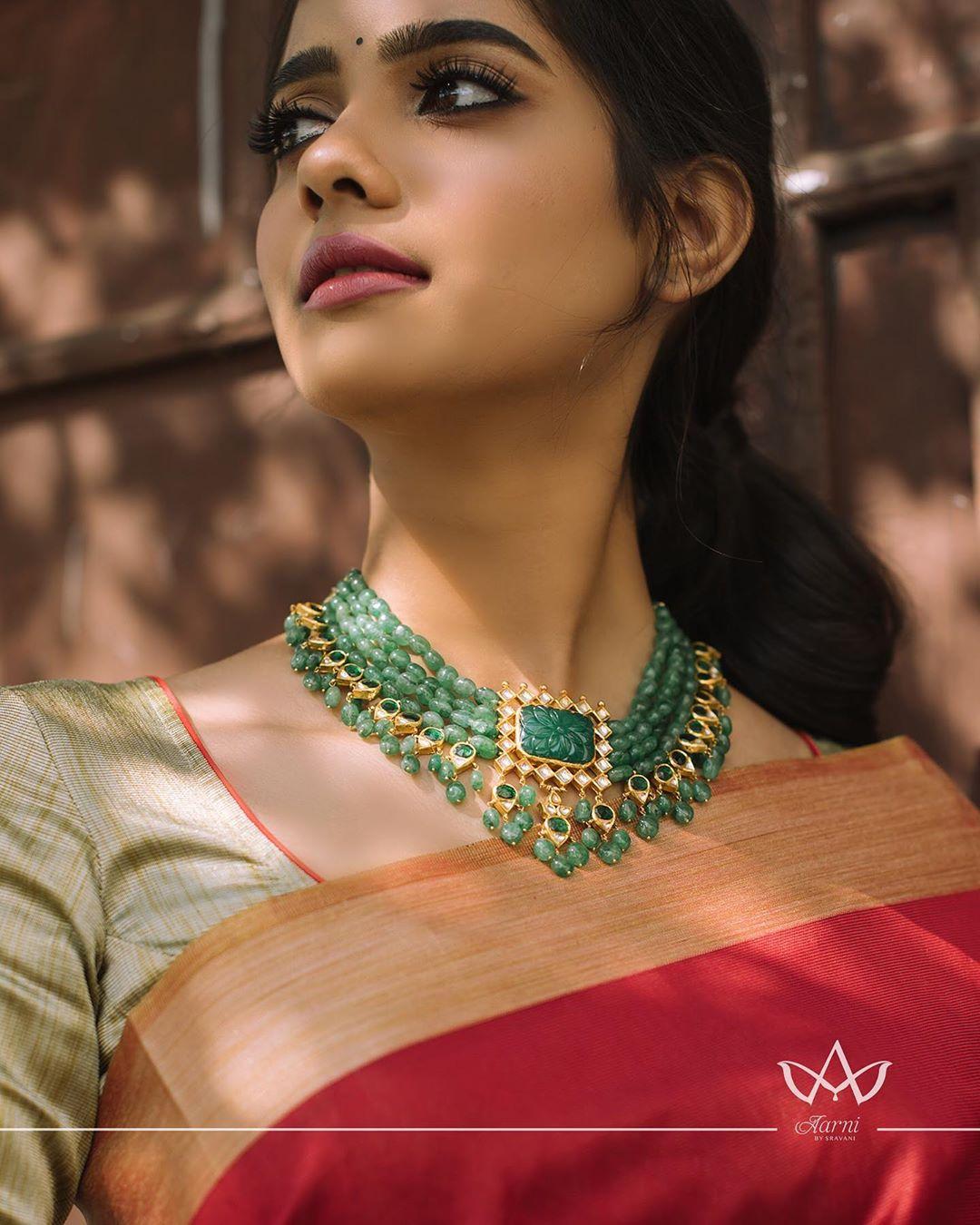 green-beads-choker-necklace