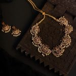 Half Moon Necklace and Earrings