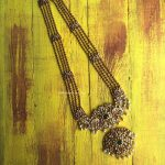 Peacock Ad Long Haram Necklace