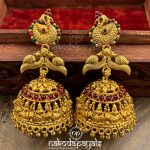 Pure Silver Jhumki With 22kt Gold Polish