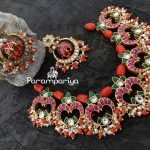 Pure Silver Kundan and Beads Necklace Set