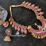 Pure Silver Kundan Stone Necklace Set