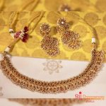 Ruby Diamond And Polki Necklace Set