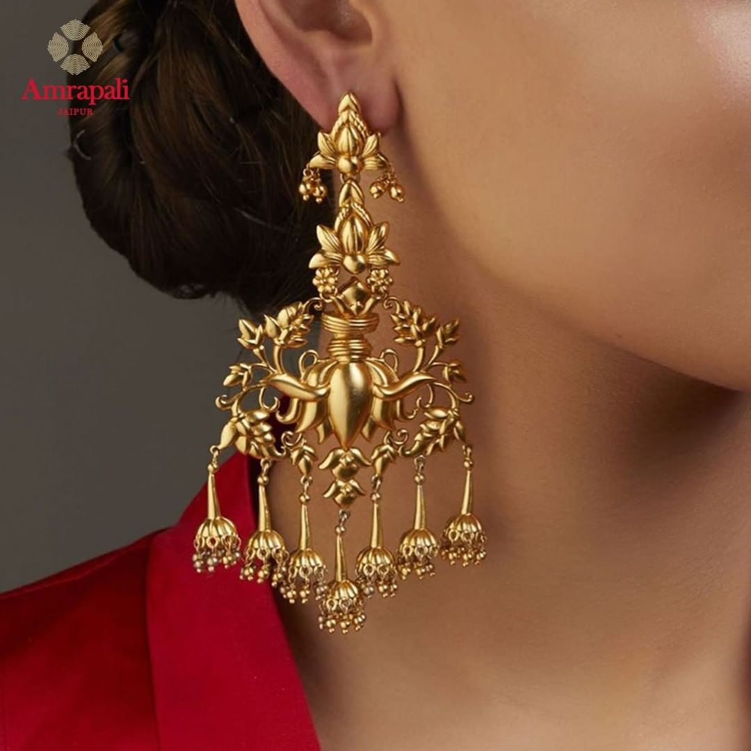 silver-gold-plated-lotus-earrings