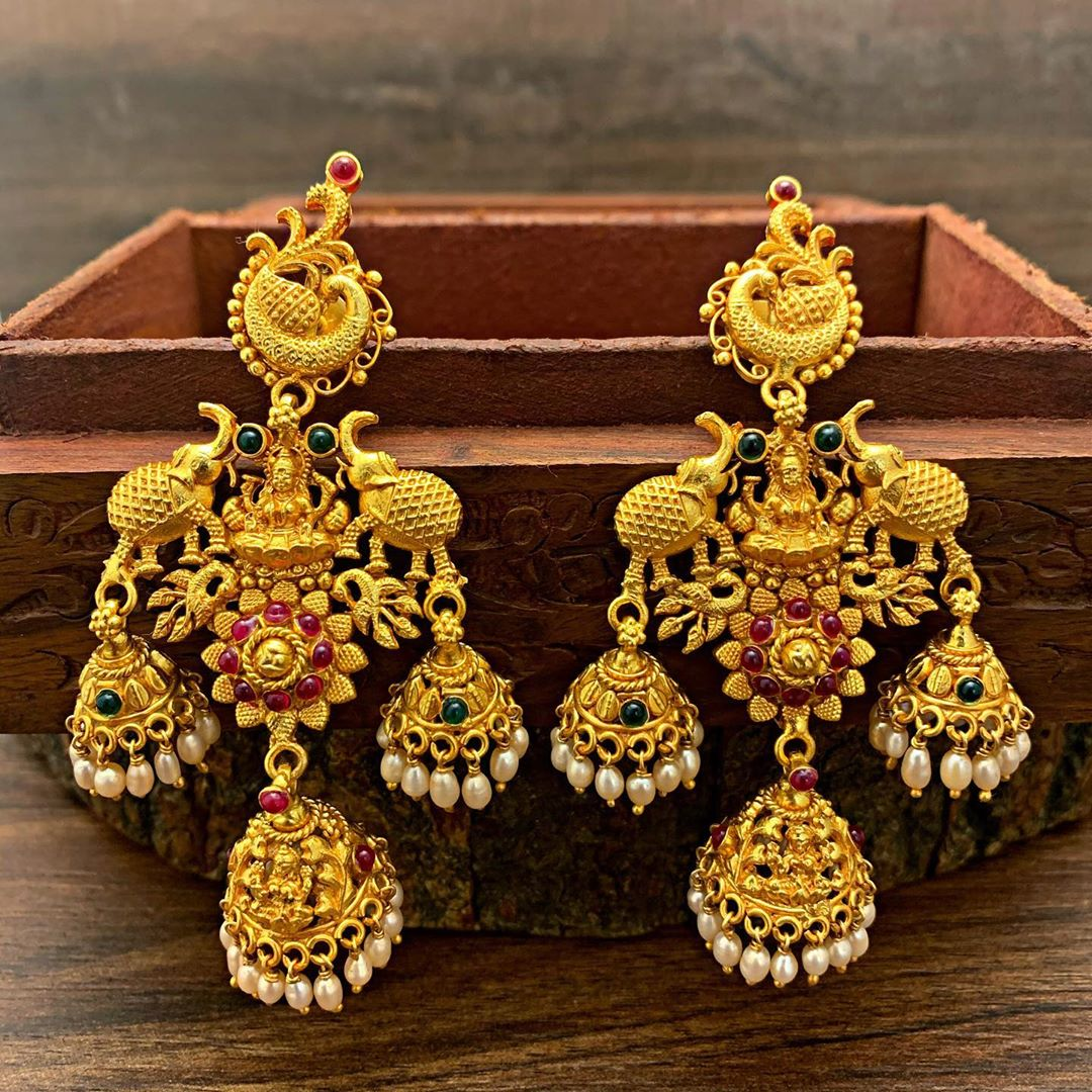 silver-gold-plated-temple-jumka