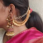 Classic Long Bridal Jhumkas With Mattals