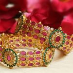 Grand Ruby Green AD Stone Bangles