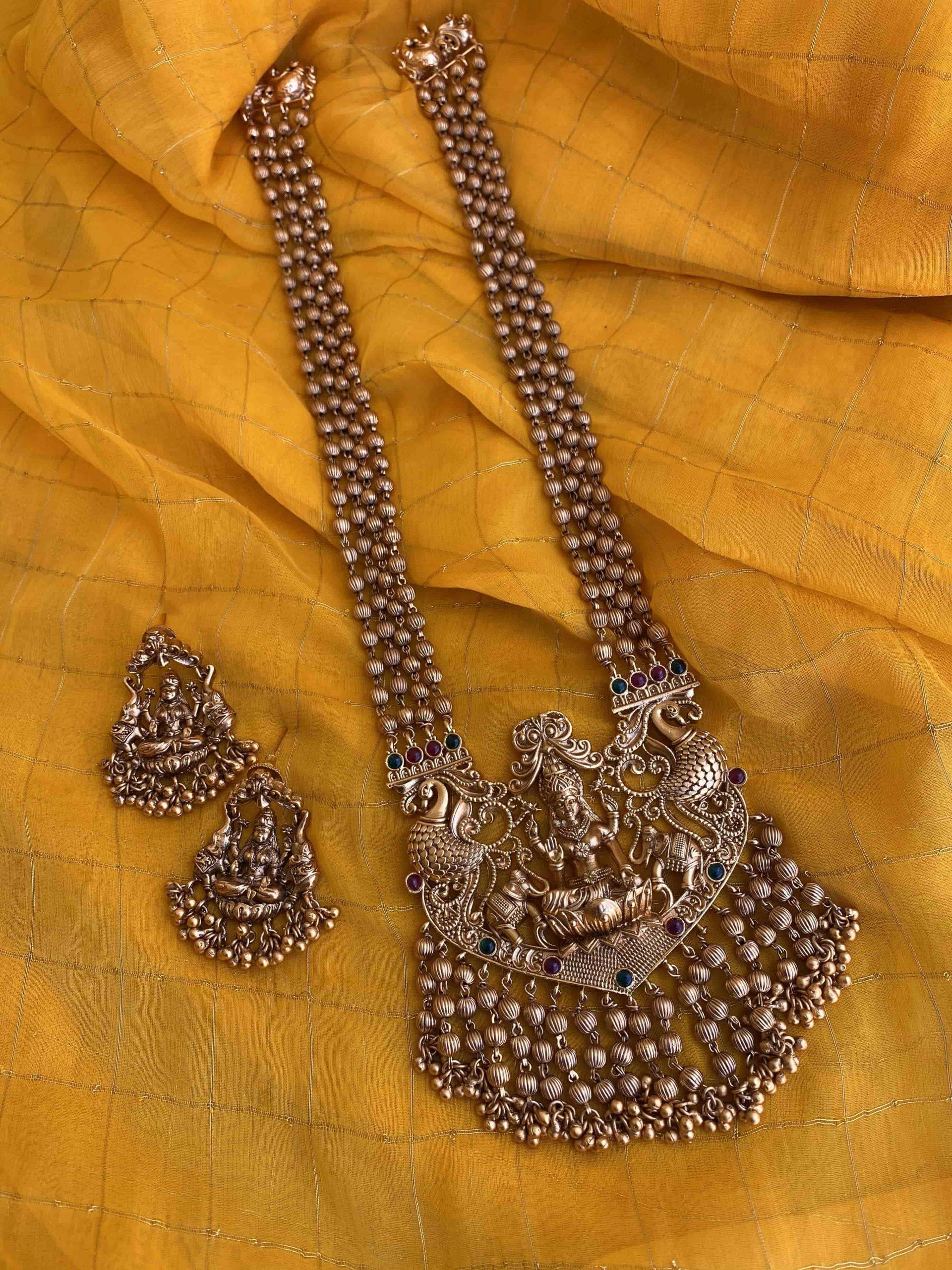 Imitation-Goddess-Lakshmi-Long-Haram-01