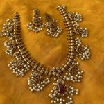 Ruby Stone Guttapusalu Short Necklace
