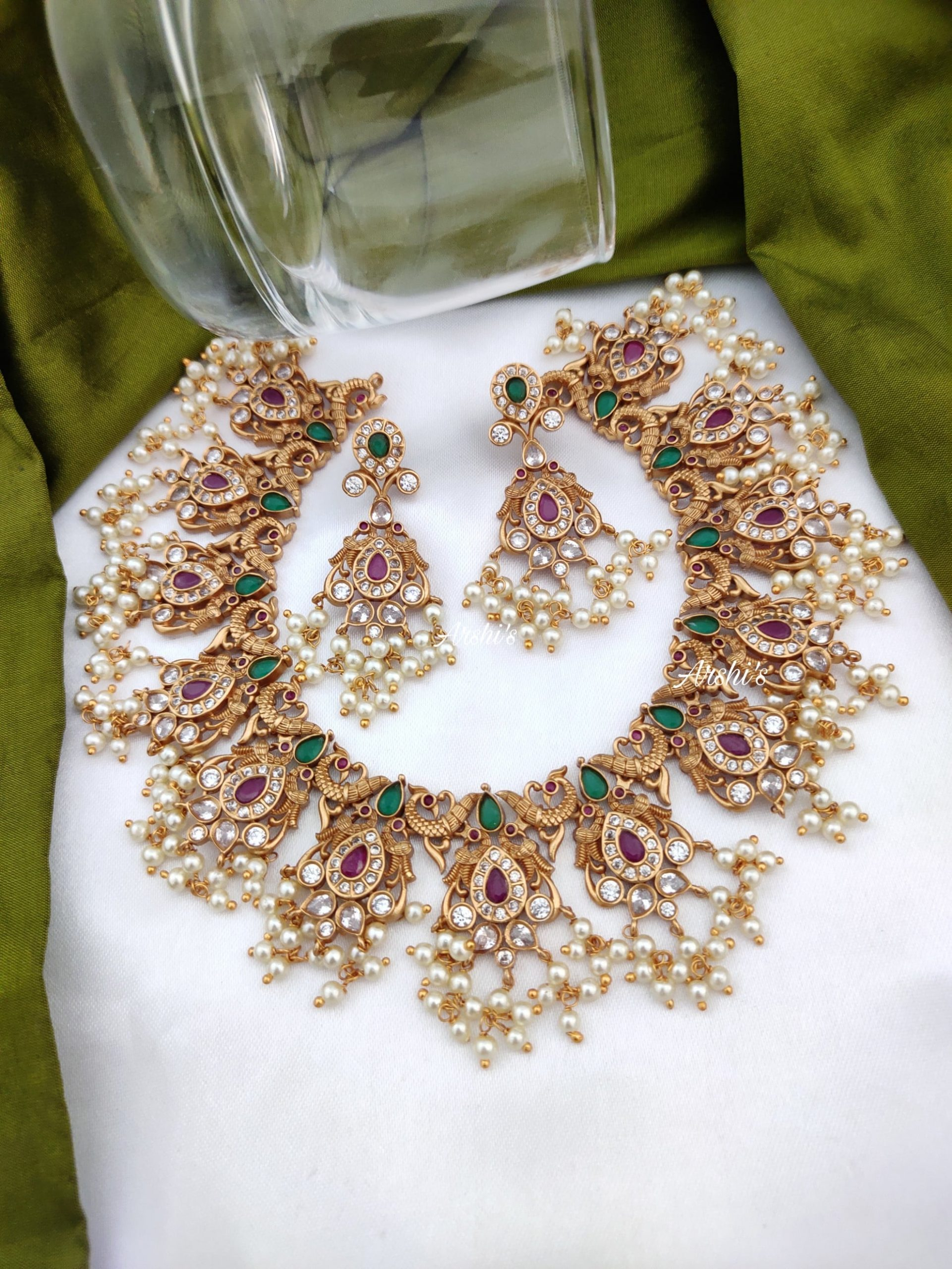 Semi-Precious-Peacock-Guttapusalu-Necklace-01