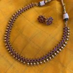 Simple Imitation Full Ruby Necklace