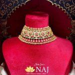 Diamond Polki Studded Choker Necklace