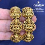 Goddess Lakshmi Gold Bangles