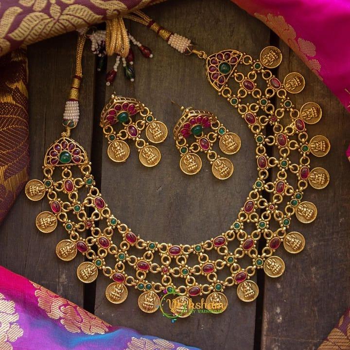 gold-look-alike-pearl-layered-coin-laxmi-necklace