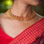 Gold Plated Lakshmi Coin Necklace
