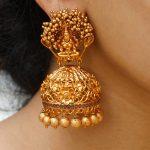 Gold Polish Antique Temple Jhumkas
