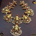 Gold Polished Guttapusalu Necklace