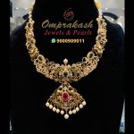 Gold Stone Nakshi Necklace