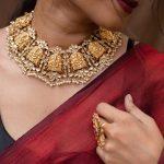 Kundan And Pearl Lakshmi Necklace