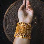 Lakshmi Temple Bangles Set