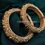 Large Statement Gold Lock Bangles