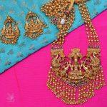 Long Lakshmi Stone Studded Haram