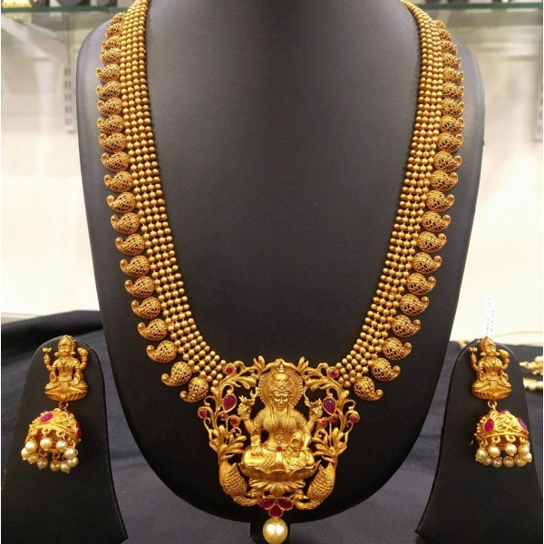 long-matte-temple-mango-necklace-jumkha