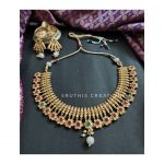 Matte Antique Necklace and Earings