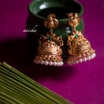 Matte Gold Finish Antique Jhumkas