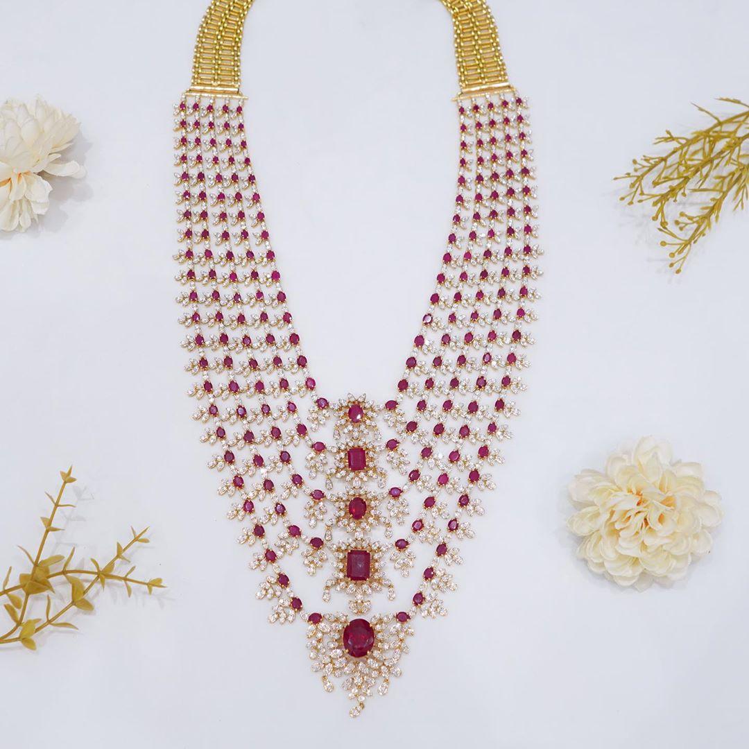 multilayered-diamond-ruby-necklace