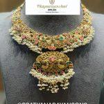 Nakshi Work Stone Studded Guttapusalu Necklace