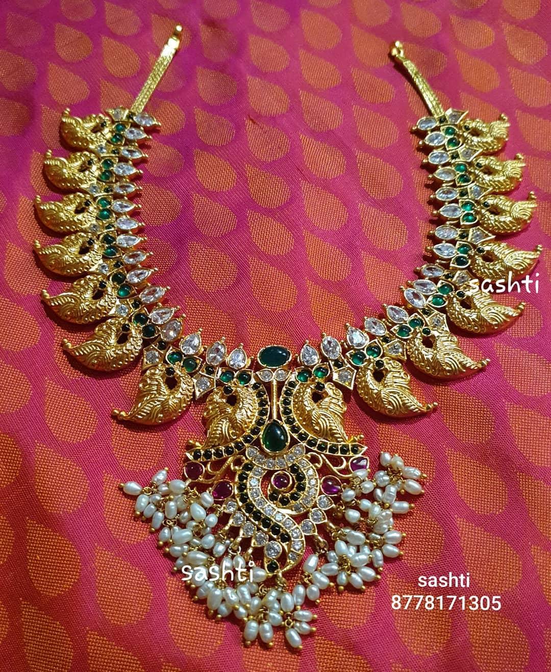 peacock-design-guttapusalu-necklace