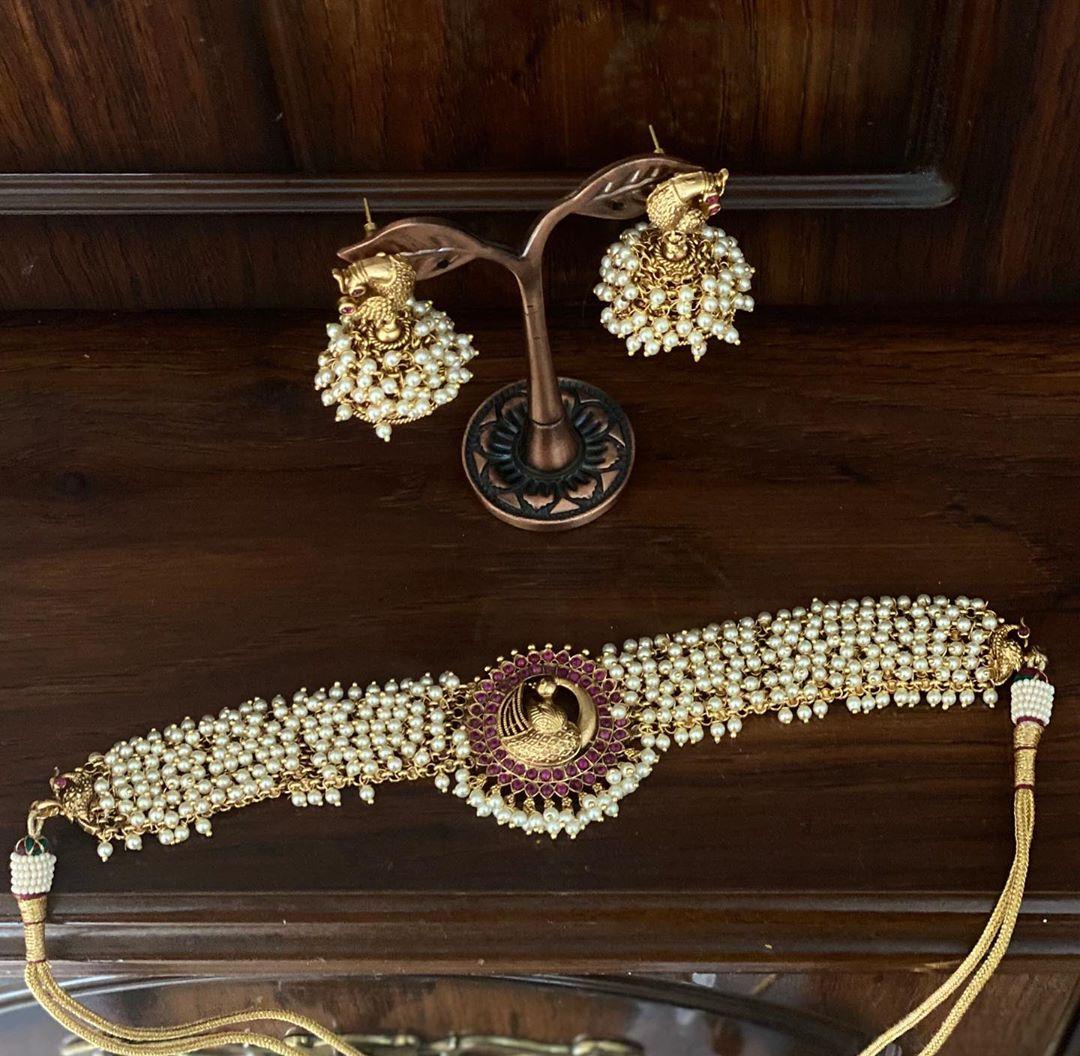 pearl-choker-necklace-set