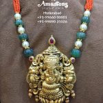 Pearl Necklace With Ganesha Gold Pendant