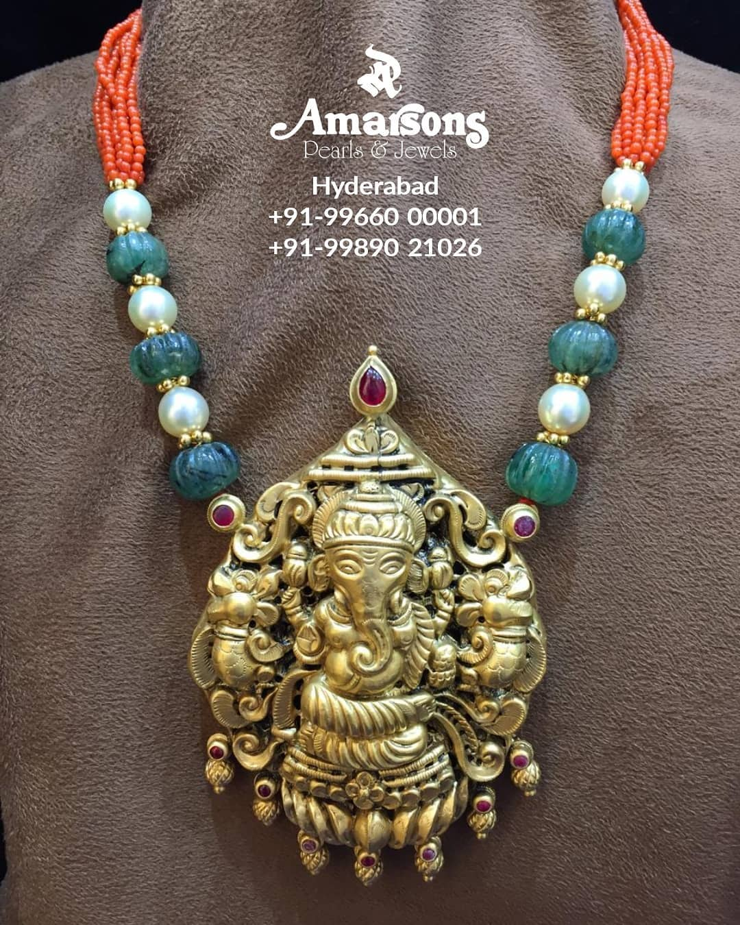 pearl-necklace-ganesha-gold-pendant